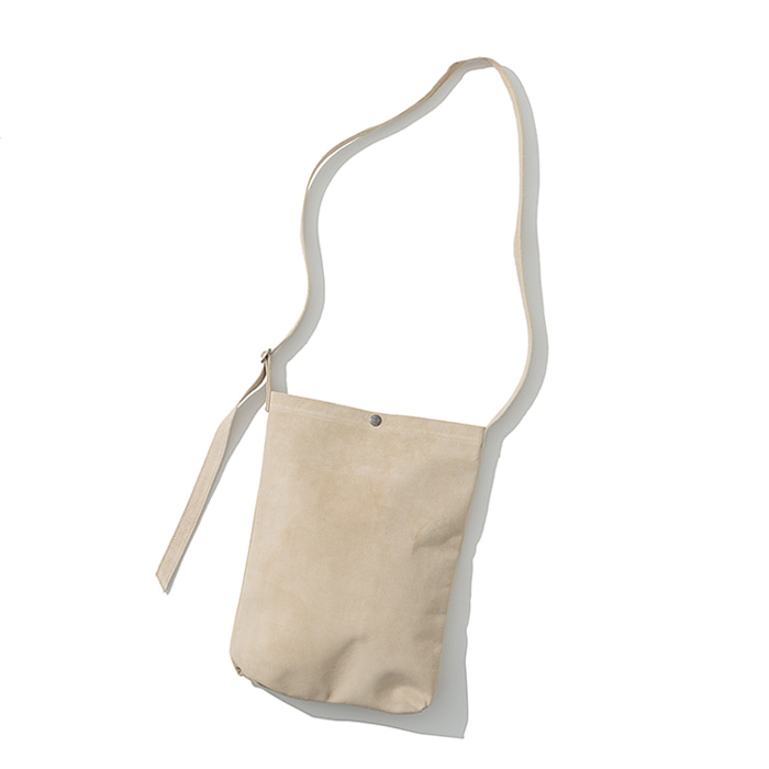 pig skin shoulder bag beige