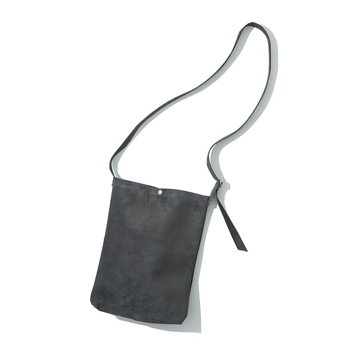 pig skin shoulder bag grey
