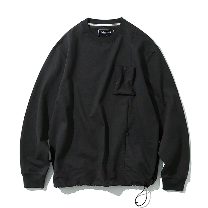 20ss MxU pocket L/S tee charcoal