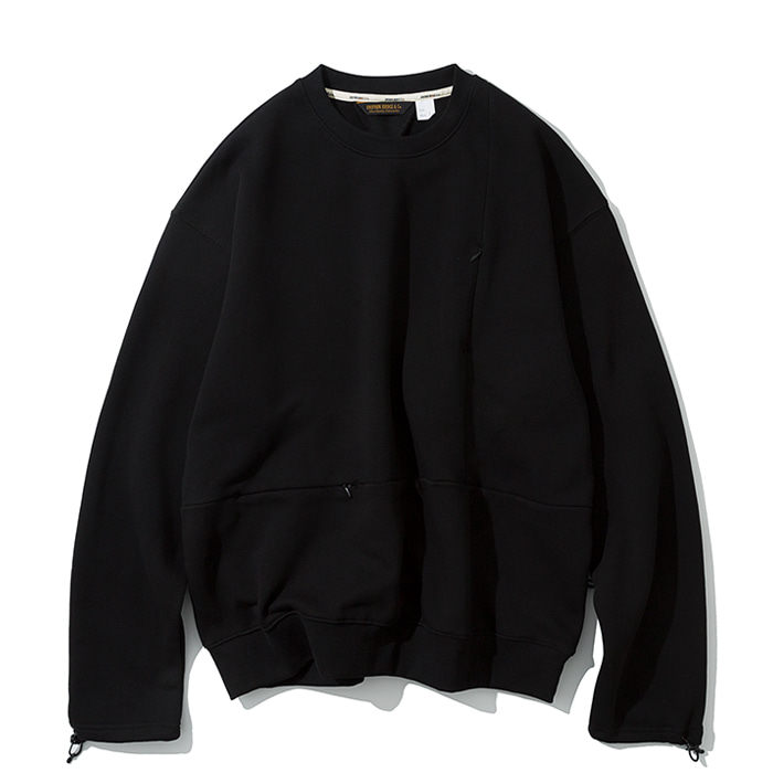 20ss MxU pocket sweatshirts black