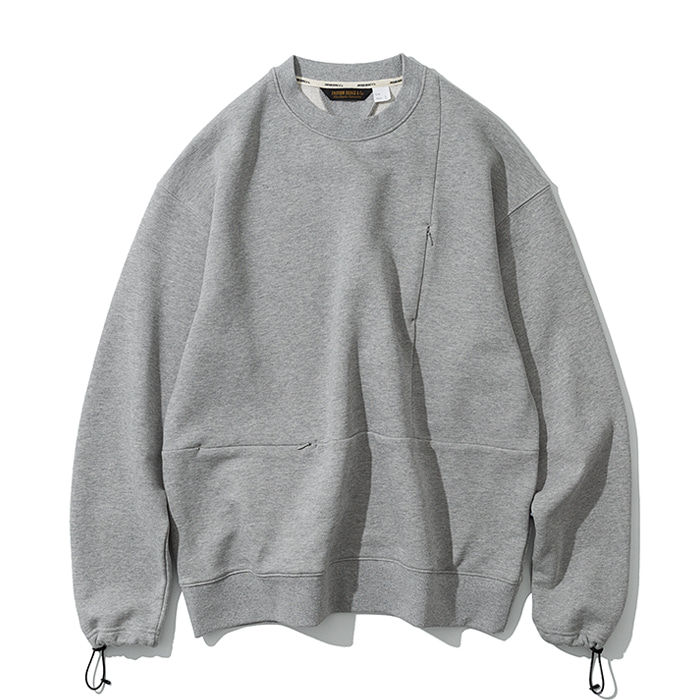 20ss MxU pocket sweatshirts grey
