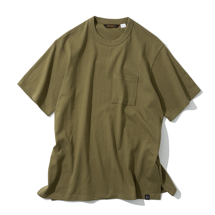 20ss UxM california tee khaki brown