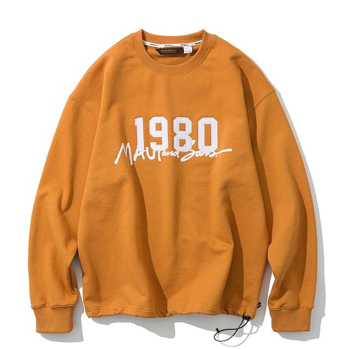 20ss UxM 1980 sweatshirts orange