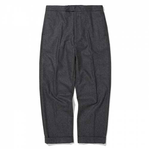 18fw banding wool slacks charcoal