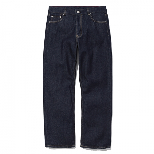 comfort denim pants indigo blue washed