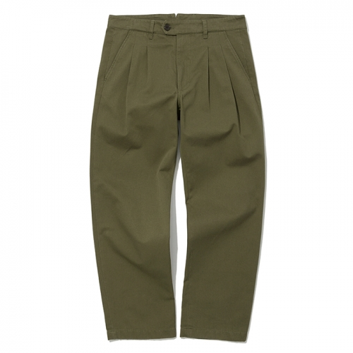 19ss two tuck chino pants khaki