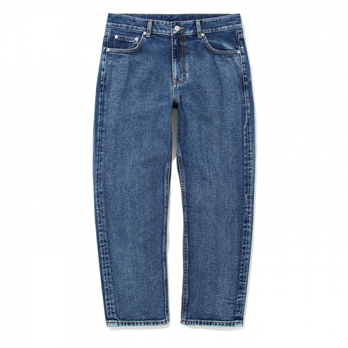 18fw washing crop denim pants indigo