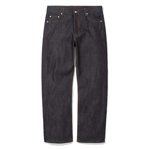 comfort raw denim pants new indigo