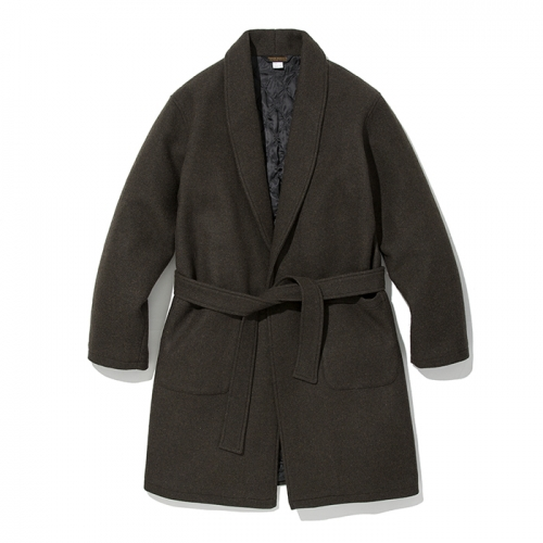 18fw wool robe coat brown