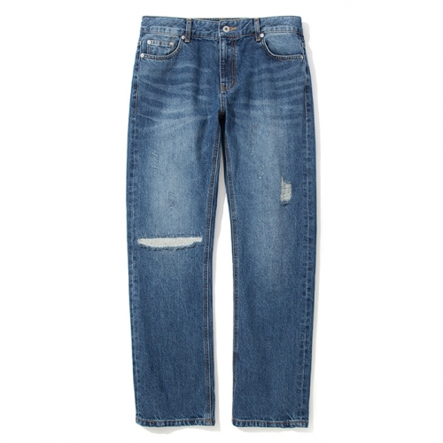 18ss damage washing denim pants indigo