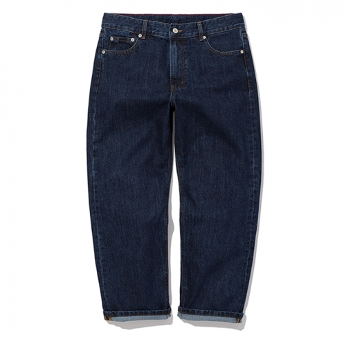 [예약배송] washing crop denim pants indigo