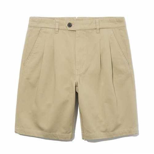 19ss two tuck chino shorts beige