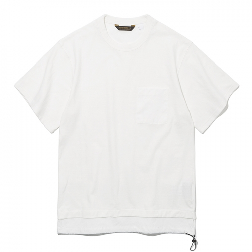 19ss layer pocket s/s tee off white
