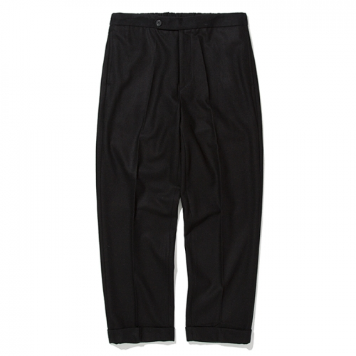 18fw banding wool slacks black