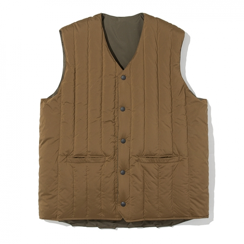 18fw reversible down vest brown / olive