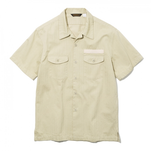 19ss army short shirts beige