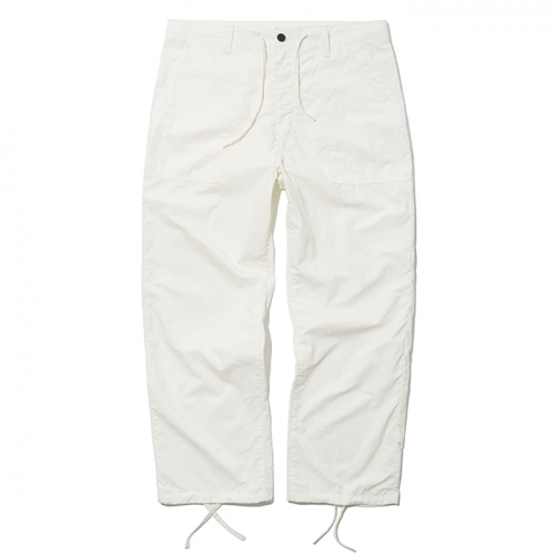 19ss summer fatigue pants white