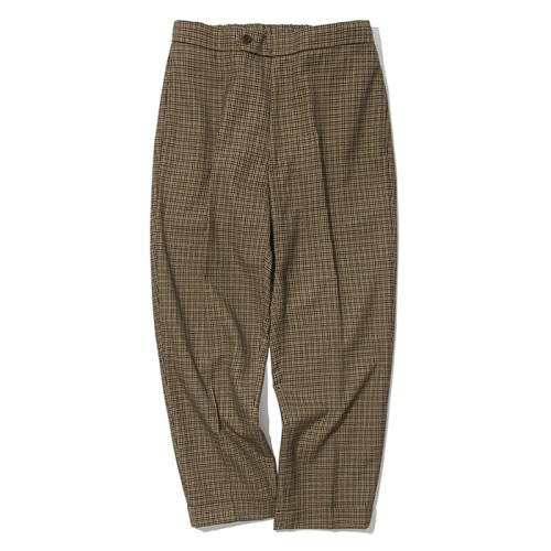 19ss cropped check slack brown
