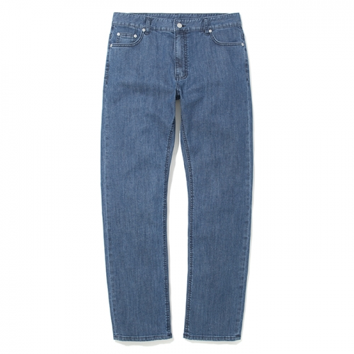 18fw straight denim pants light indigo