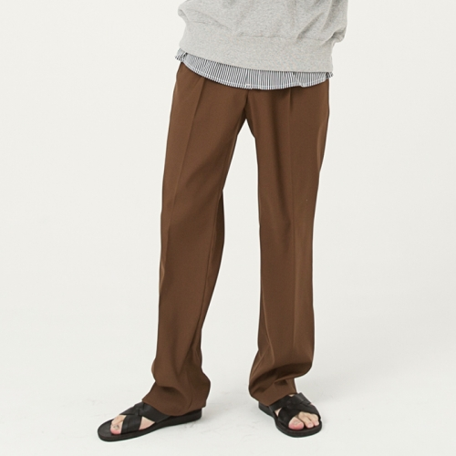 wide slacks pants camel