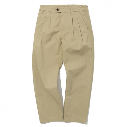 19ss two tuck chino pants beige