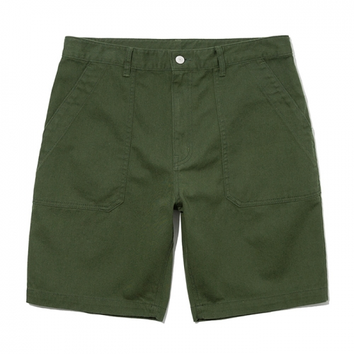 19ss cotton fatigue shorts forest