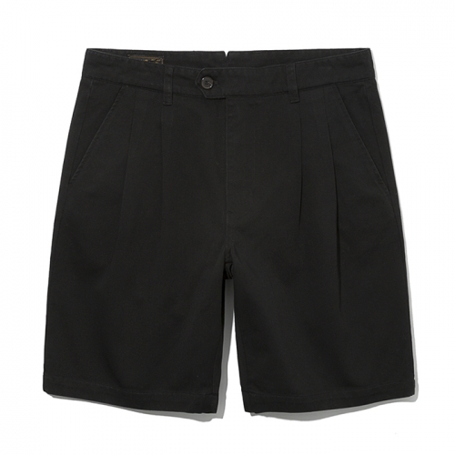 19ss two tuck chino shorts black