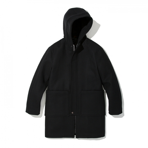18fw wool fisherman hood coat black