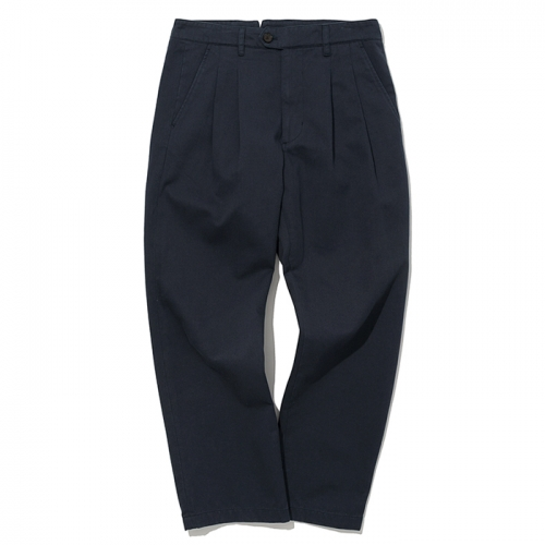 19ss two tuck chino pants navy
