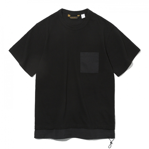 19ss layer pocket s/s tee charcoal