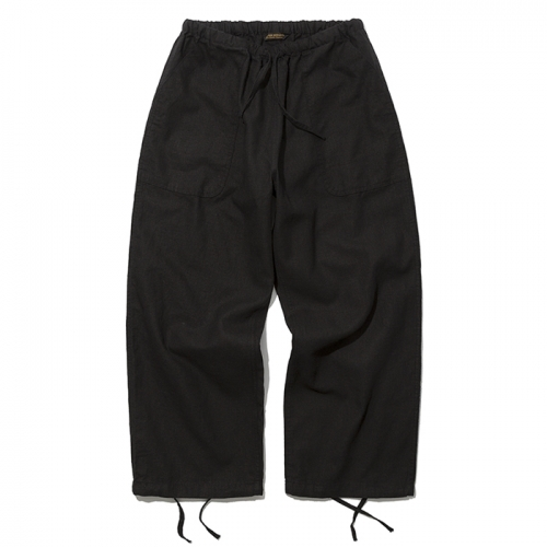 19ss linen balloon pants black