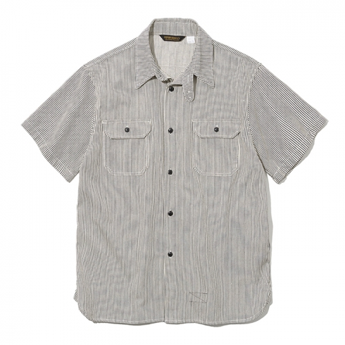 19ss stripe work short shirts ivory