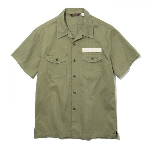 19ss army short shirts sage green