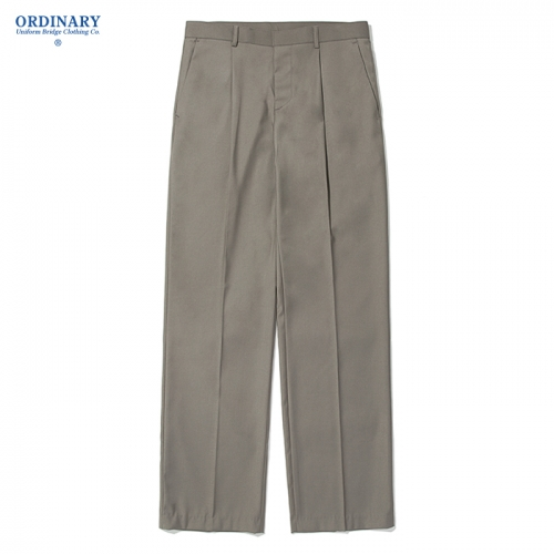 wide slacks pants beige