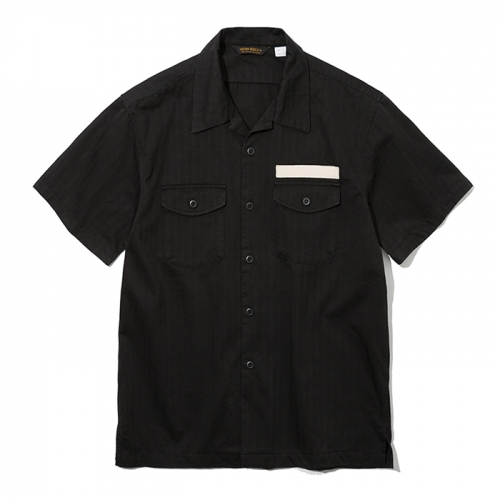 19ss army short shirts black