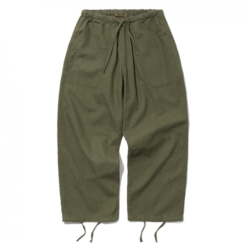 19ss linen balloon pants khaki