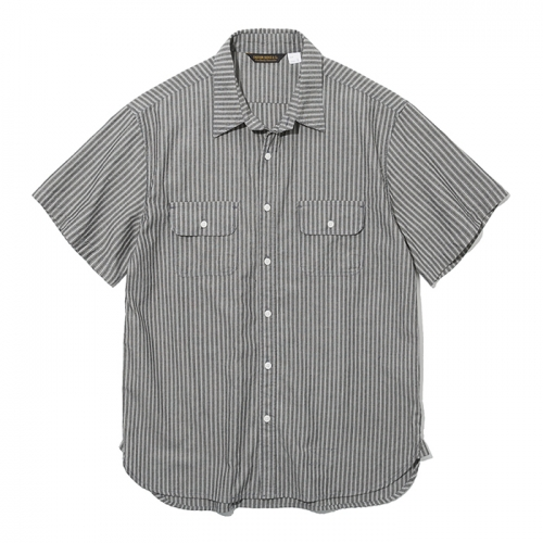 19ss stripe pocket short shirts black