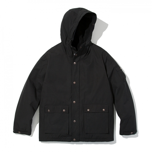 18fw mountain parka black